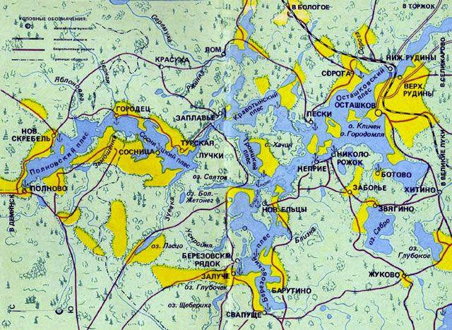 карта озёр Селигера