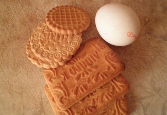 яйцо и печенье