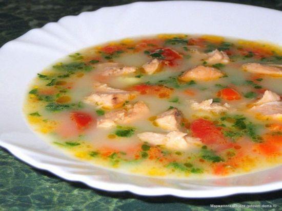 Суп из семги с овощами