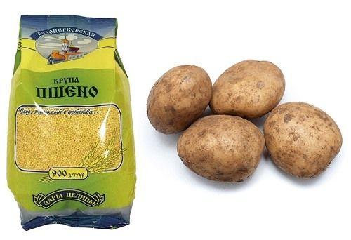пшено и картошка