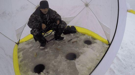 Использование зимней палатки