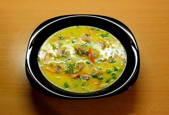 Суп со скумбрией в масле