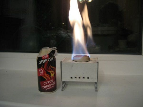 Горелка на сухом топливе