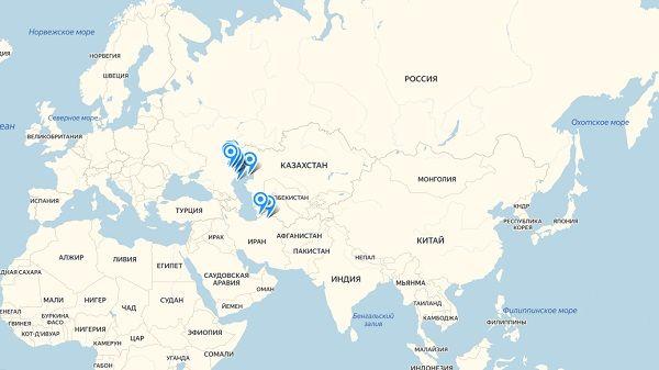 Карта обитания буффало