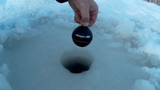 Эхолот шарик зимой