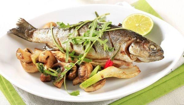 рыба с грибами