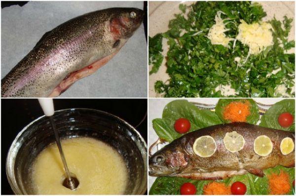 рыба с зеленью