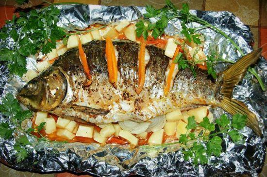 морковь в рыбе
