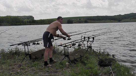 Рыболов и карповые удилища