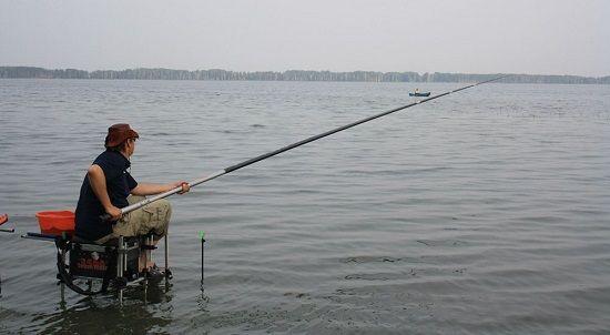 Рыболов со штекерной удочкой