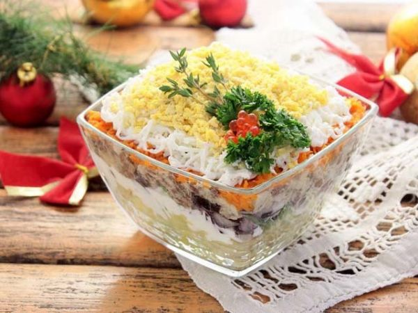 салат с пиалке
