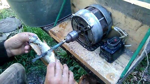 Чистка на основе электродвигателя