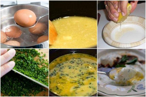 коллаж начинается с отваривания яиц