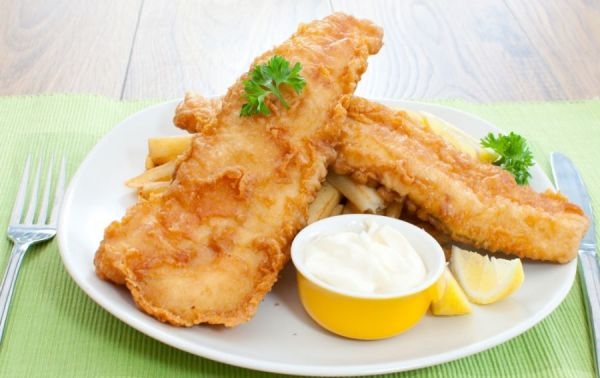 рыба с соусом