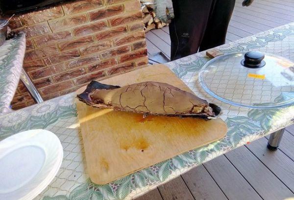 рыба в глине