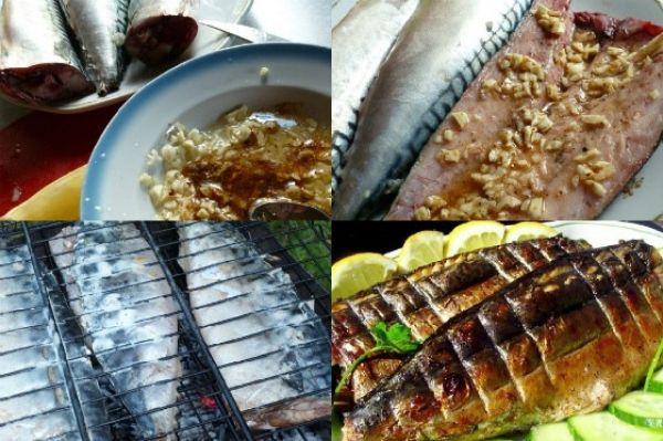 рыба на решетке