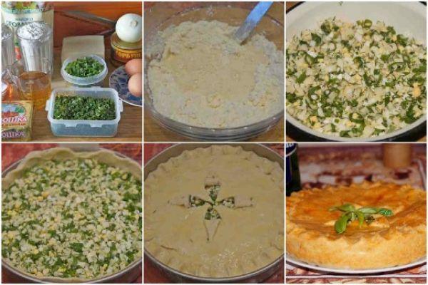 тесто с зеленью