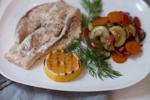 рыба с лимоном гриль