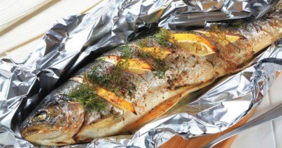 рыба на фольге