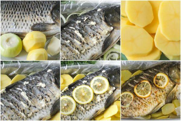 рыба с картофелем и лимоном