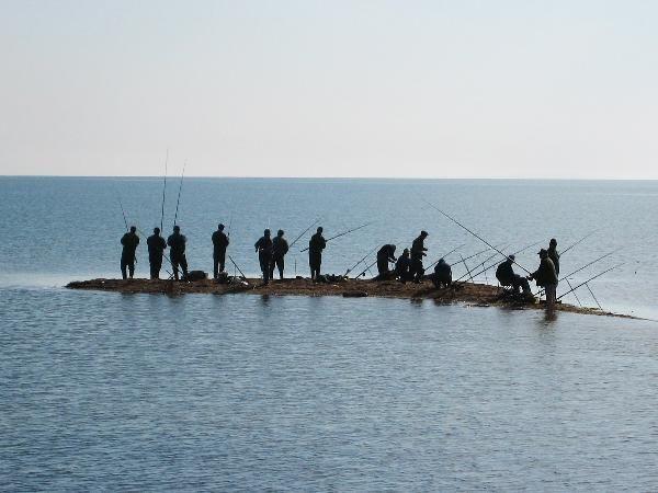 Рыбаки на косе