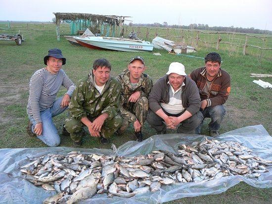 Рыбаки с уловом