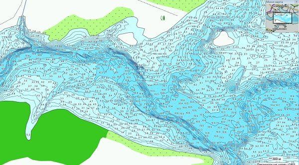 Карта глубин