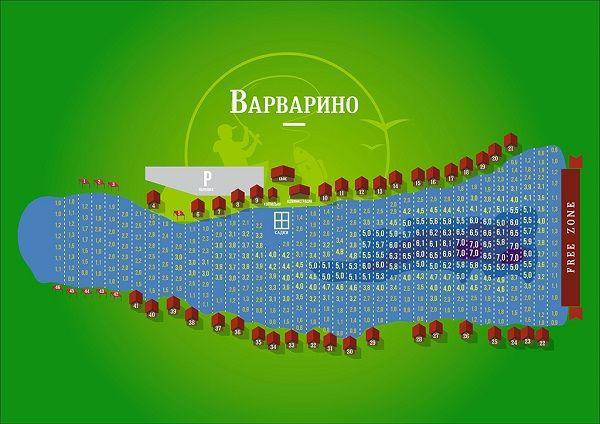 Схема пруда Варварино