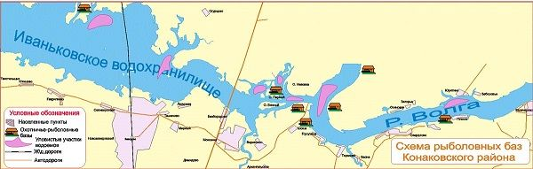 Карта рыболовных баз