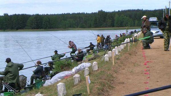 На рыболовных соревнованиях
