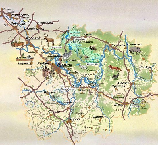 Карта водоемов