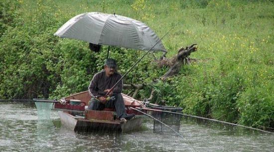 Ловля в дождь