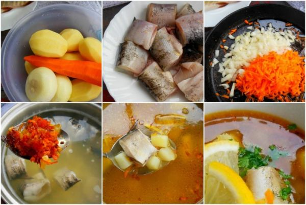 суп с луком, морковью и картофелем