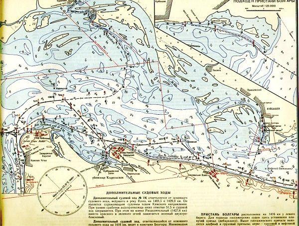 Карта Волги у Казани