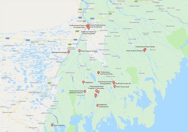 Карта юга области