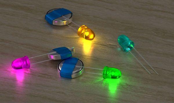 Светлячки из светодиодов