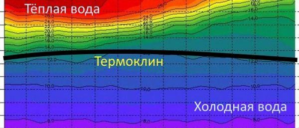 распределение воды с разными температурами