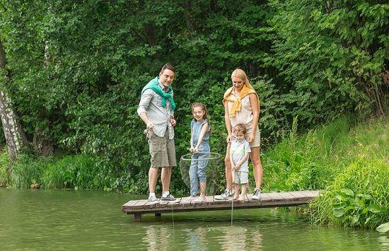 С семьей на рыбалке