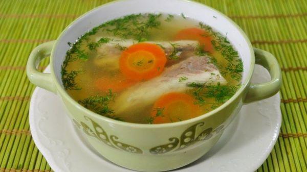 суп с морковью