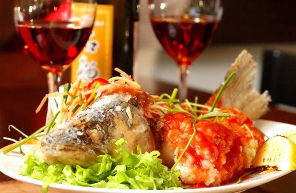 Рыба и вино