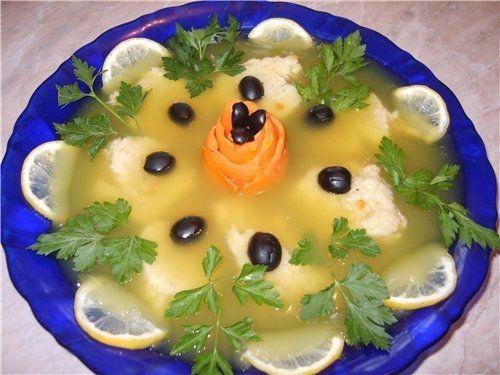 заливное с оливками