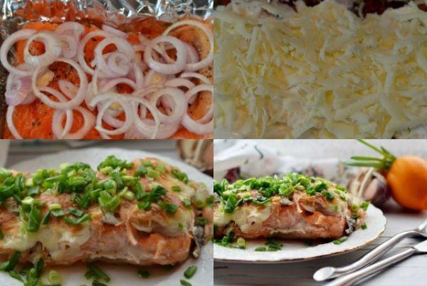 рыба с сыром, зеленью