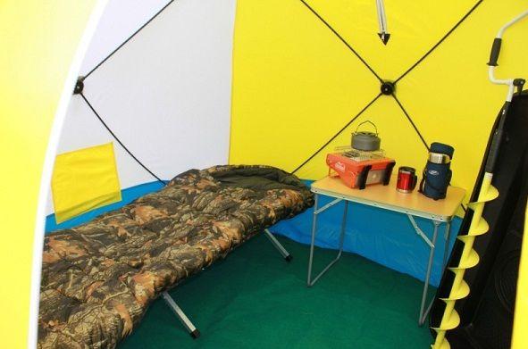 Внутреннее обустройство палатки