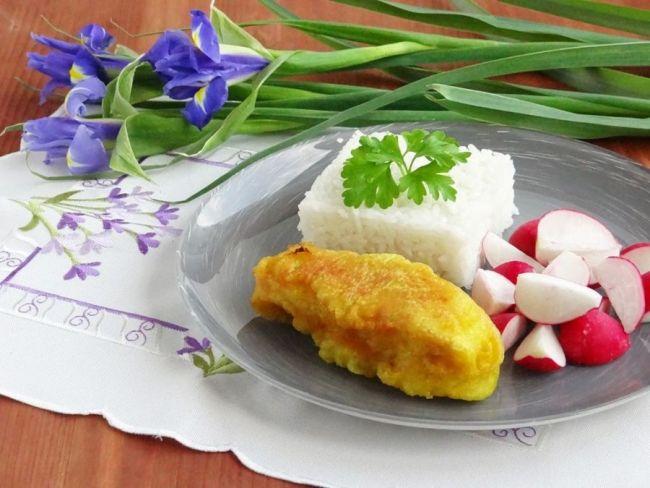 Рис и рыба в кляре