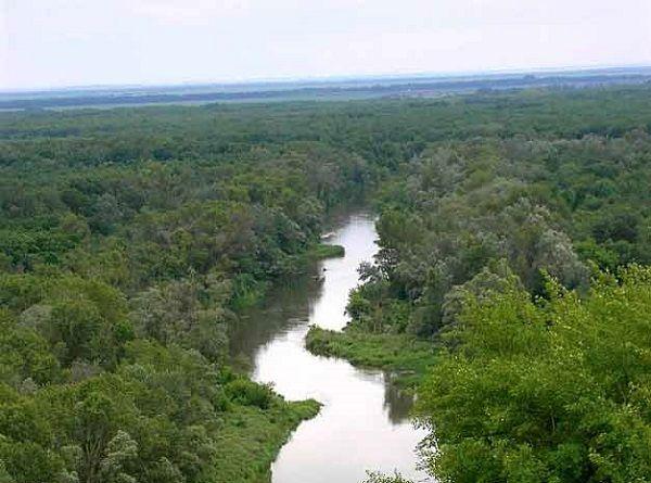 Река с высоты полета