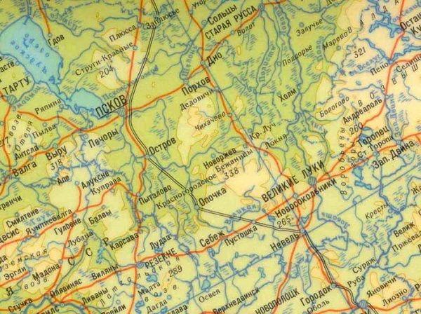 Река Великая на карте
