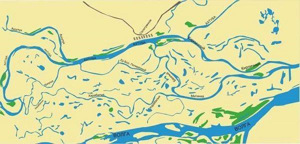 Карта Ахтубы