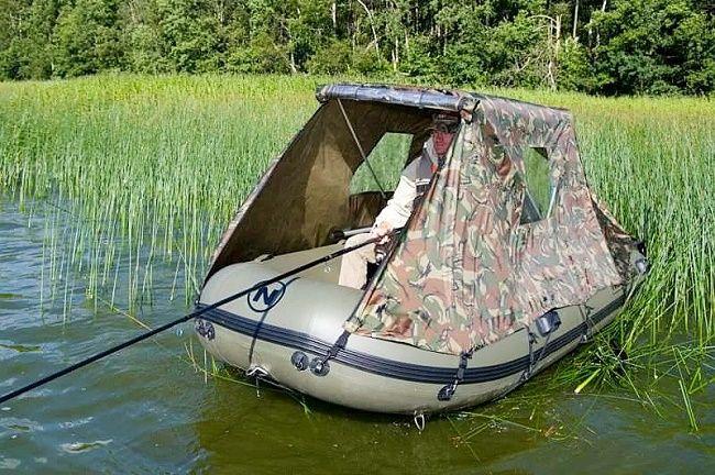 лодка с навесом