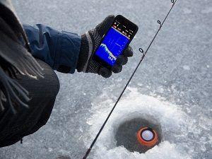 Измерение рельефа эхолотом со льда