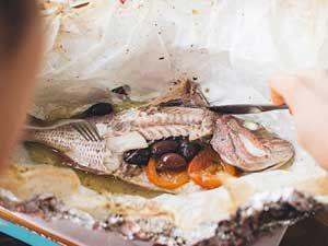 блюдо из нежирной рыбы